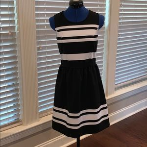Loft Black & White Dress, Size 0 NWT